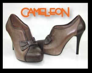 pantofi din piele maro