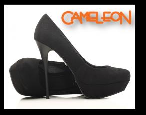 Pantofi din piele intoarsa cu toc stiletto